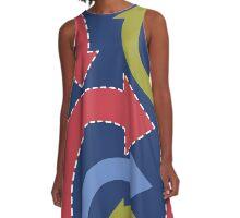 arrows A-Line Dress