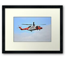 Irish Coast Guard's Sikorsky S92 helicopter Framed Print
