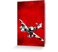 Messerschmitt Me 262 Jet Fighter from WW2 Greeting Card
