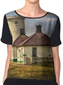Nash Point Lighthouse Low Tower Chiffon Top