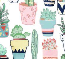 Cute Cacti in Pots Sticker