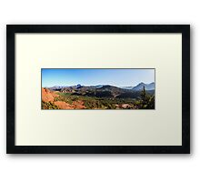 Cathedral Rock - Back to the Begining - Panorama Framed Print