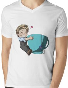 Patrick Jane and his cup of Tea Mens V-Neck T-Shirt