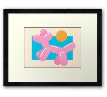 Dog meets Summer Framed Print