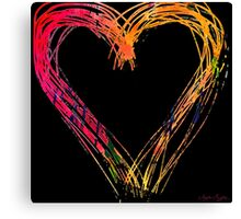 Messy hearts light the dark. Canvas Print