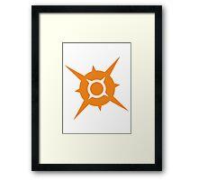 Pokémon Sun Logo Framed Print