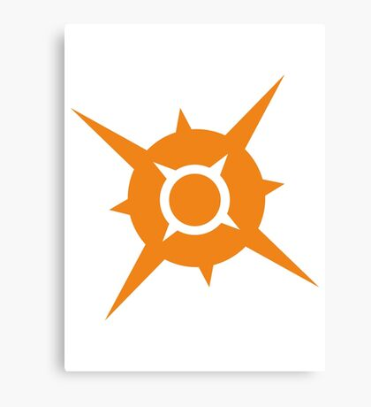 Pokémon Sun Logo Canvas Print