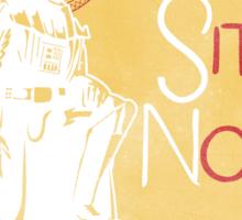 Tournee du Sith Noir Sticker