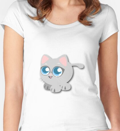 Anime Kitty Women's Fitted Scoop T-Shirt