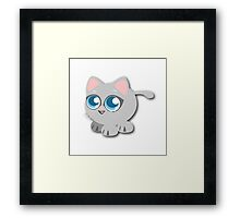 Anime Kitty Framed Print
