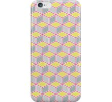 Tumbling Blocks, Pink/Yellow iPhone Case/Skin