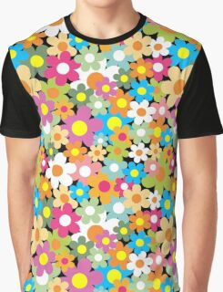 Seamless pattern. Colorful flower background. Graphic T-Shirt