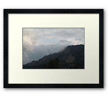 Colorado Mountain and Clouds Framed Print