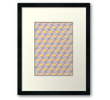 Tumbling Blocks, Pink/Yellow Framed Print