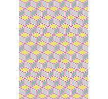 Tumbling Blocks, Pink/Yellow Photographic Print