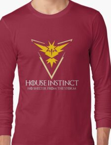 House Instinct v2 (GOT + Pokemon GO) Long Sleeve T-Shirt