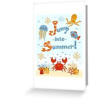 Jump into summer! Greeting Card