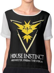 House Instinct v2 (GOT + Pokemon GO) white Chiffon Top