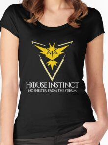 House Instinct v2 (GOT + Pokemon GO) white Women's Fitted Scoop T-Shirt