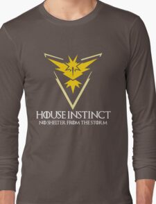 House Instinct v2 (GOT + Pokemon GO) white Long Sleeve T-Shirt