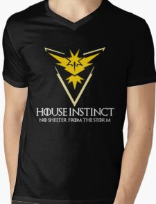 House Instinct v2 (GOT + Pokemon GO) white Mens V-Neck T-Shirt