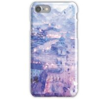 Lavender Salzburg at Night Print iPhone Case/Skin