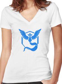 Pokemon Go faction: Mystic Women's Fitted V-Neck T-Shirt