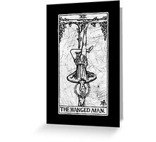 The Hanged Man Tarot Card - Major Arcana - fortune telling - occult Greeting Card