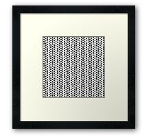 Dots pattern in black and white Framed Print