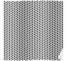 Dots pattern in black and white Poster