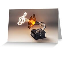 let the music play (just keep the groove) Greeting Card
