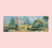 Dimetrodon & Stegosaurus Frieze Kids Tee