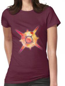 Pokémon Sun Logo Space Womens Fitted T-Shirt
