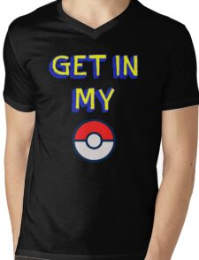 Get In My Pokeball Mens V-Neck T-Shirt