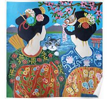 Two geishas. Poster