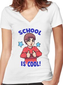 Blue's Clues: School is Cool! Women's Fitted V-Neck T-Shirt