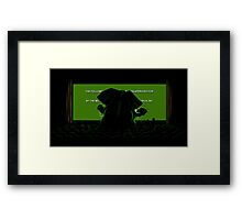 Down in front Framed Print
