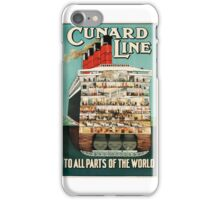 Sail Cunard Line - Vintage Travel Poster iPhone Case/Skin
