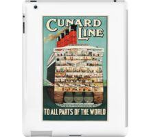 Sail Cunard Line - Vintage Travel Poster iPad Case/Skin