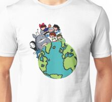 Totoro And Family Unisex T-Shirt