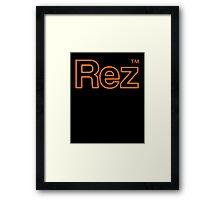 Rez Logo Framed Print