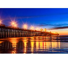 The Pier at Oceanside California Photographic Print