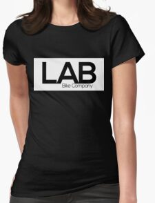 White Strip Tee - Lab Bike Company Womens Fitted T-Shirt