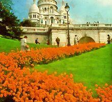 Sacre Coeur, Paris, France by Linda Gregory