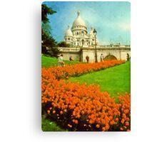 Sacre Coeur, Paris, France Canvas Print