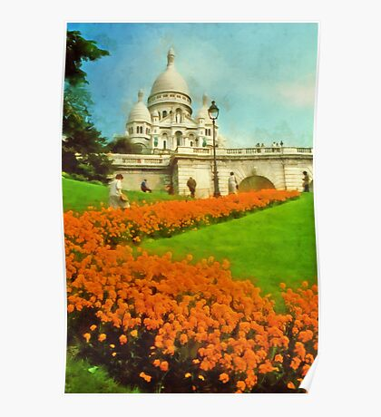 Sacre Coeur, Paris, France Poster
