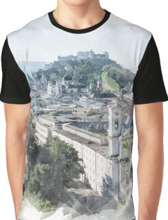City on a River Print Graphic T-Shirt