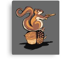 BACK OFF MY NUT! Canvas Print