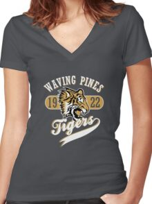 Waving Pines Tigers Women's Fitted V-Neck T-Shirt