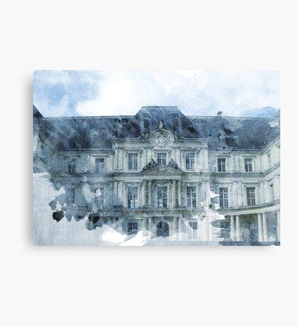 Architecture Watercolor Print Canvas Print